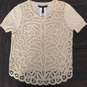 BCBG Cream T-shirt Sweater